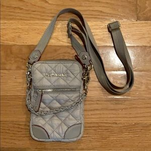 Brand NEW MZWALLACE MICRO CROSSBODY tan/grey fog